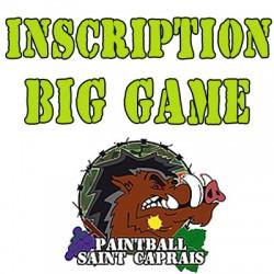 Inscription au Big Game paintball sans les 500 billes offertes