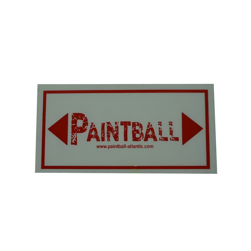 Panneau Flechage Paintball