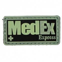 patch pvc medex fond noir/olive