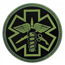 Patch pvc paramedic fond noir