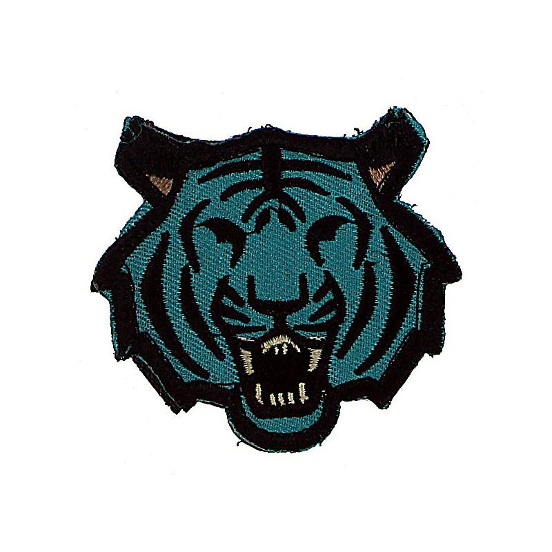 patch tissu tigre bleu