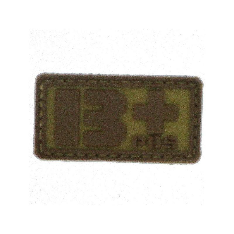 Patch PVC groupe sanguin B+ beige
