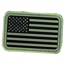 Patch USA fond noir/olive