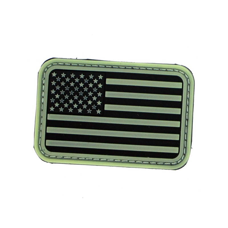 Patch USA fond noir olive