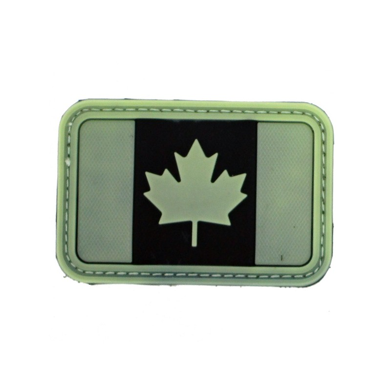 Patch Canada fond noir olive