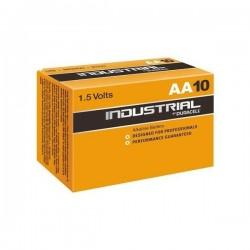 Lot de 10 piles AA Duracell Industrial