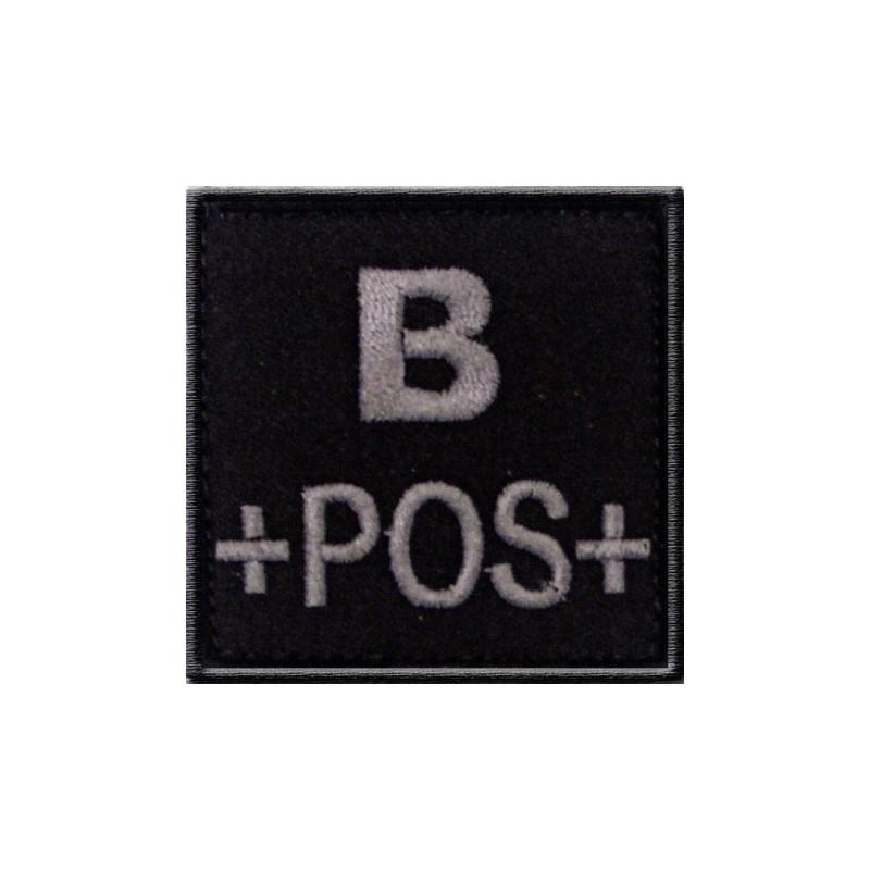 Patch TISSU groupe sanguin B+ noir