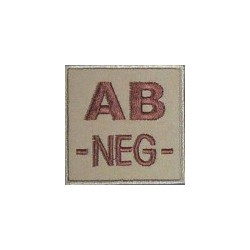 Patch Tissu Groupe Sanguin AB- Coyote