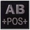 Patch TISSU groupe sanguin AB+ noir
