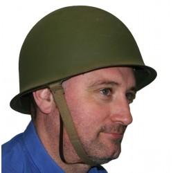 Véritable Casque + sous casque Vert militaire