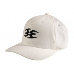 Empire 3D Men's Fitted Hat - White S-M