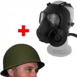 Masque a gaz Vert + avec casque vert