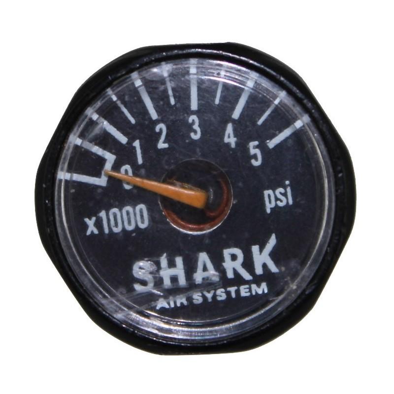 Guerrilla Air 4500psi Micro Gauge - 1 Custom Black 1/2 micro gauge.