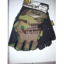 New Style Half Finger Yellow Black Gloves M