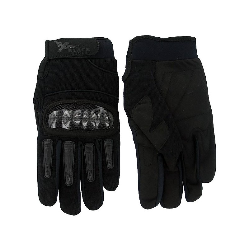 Airsoft Mil Star Black Gloves BE L