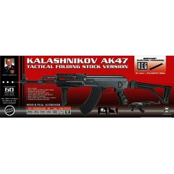 KALASHNIKOV AK47 Tactical electrique 6mm (+mag/bat/char) 550BB's