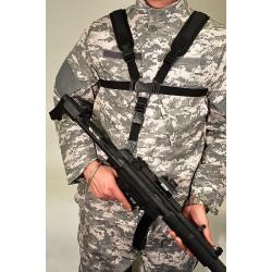 Harnais ventral noir pour fusil