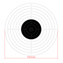10m international air pistol shooting target, 50pcs