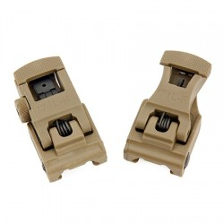 SET FRONT & REAR SIGHT SET TAN