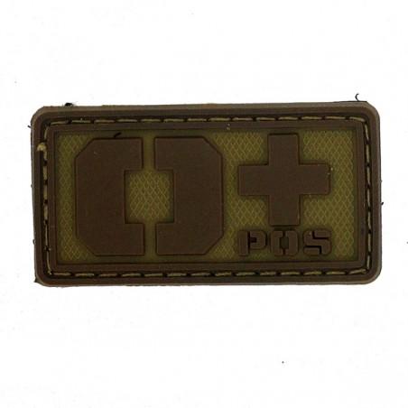 Patch PVC groupe sanguin O- beige