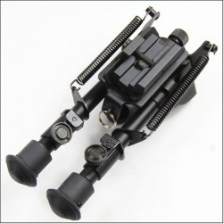 "ZCI 6""-9"" Bipod Rail and harris Mounted"