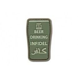 Patch Beer Drinking Infidel, olive