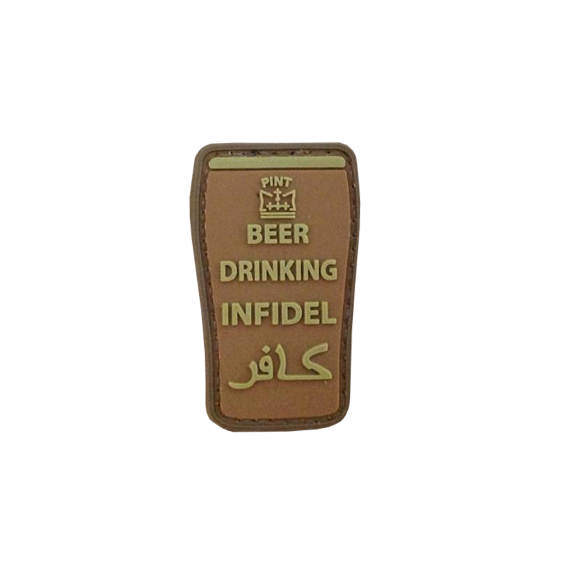Patch Beer Drinking Infidel, tan