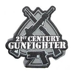 PATCH 21 CENTURY GUNFIGHTER NOIR/GRIS