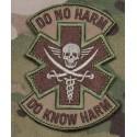 PATCH DO NO HARM DO KNOW HARM NOIR/GRIS