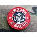 patch i love guns & becon red