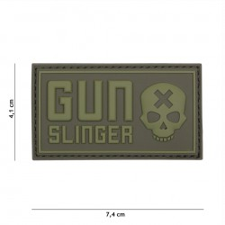 Patch 3D PVC Gun Slinger green