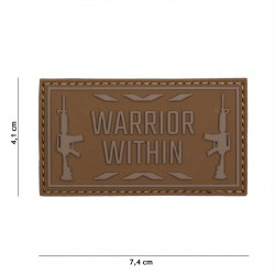 Patch 3D PVC Warrior within black