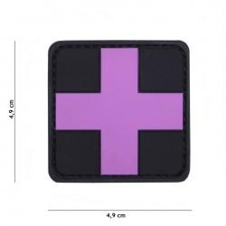 Patch 3D PVC Cross rose