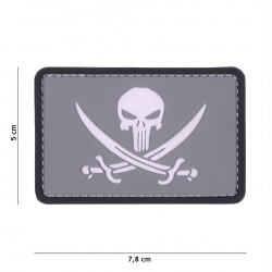 Patch 3D PVC Punisher pirate grey