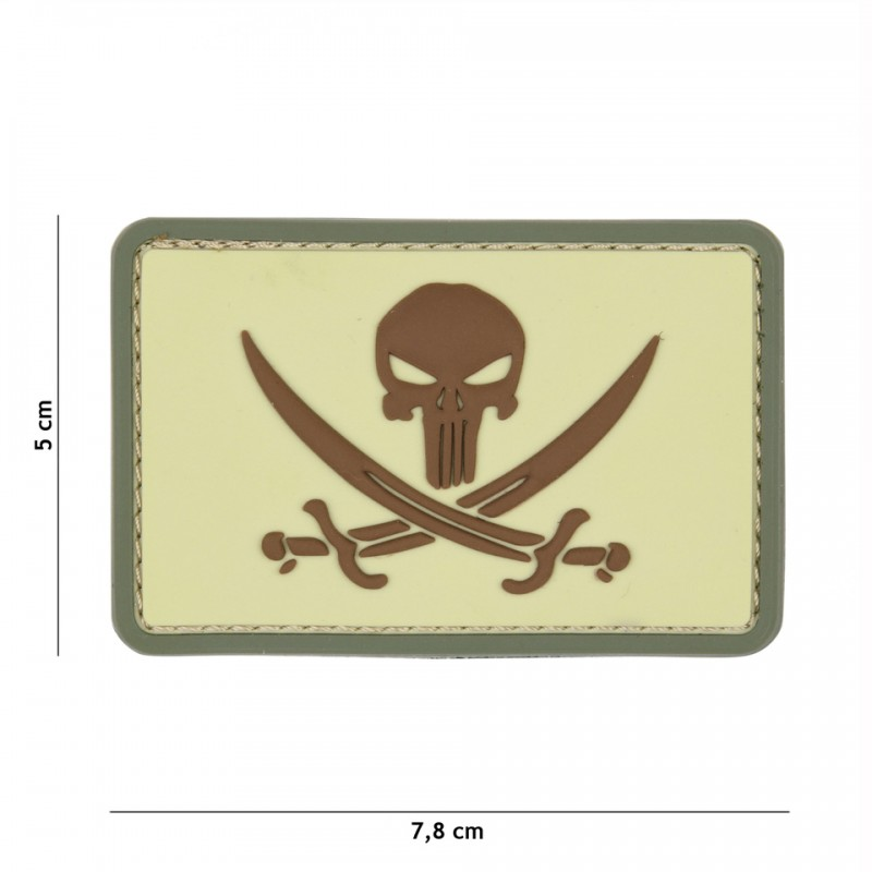Patch 3D PVC Punisher pirate coyote