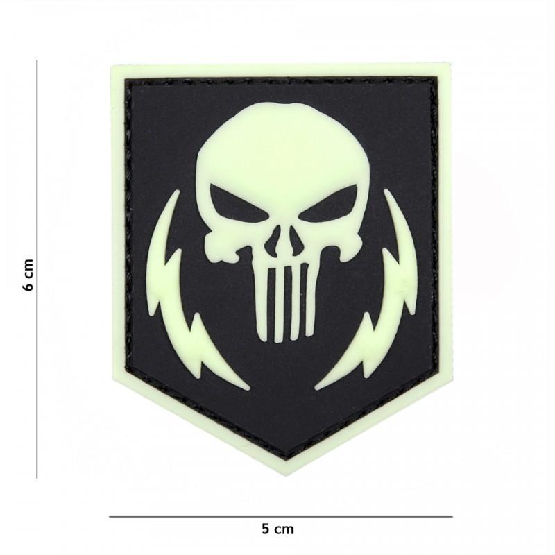 Patch 3D PVC Punisher thunder