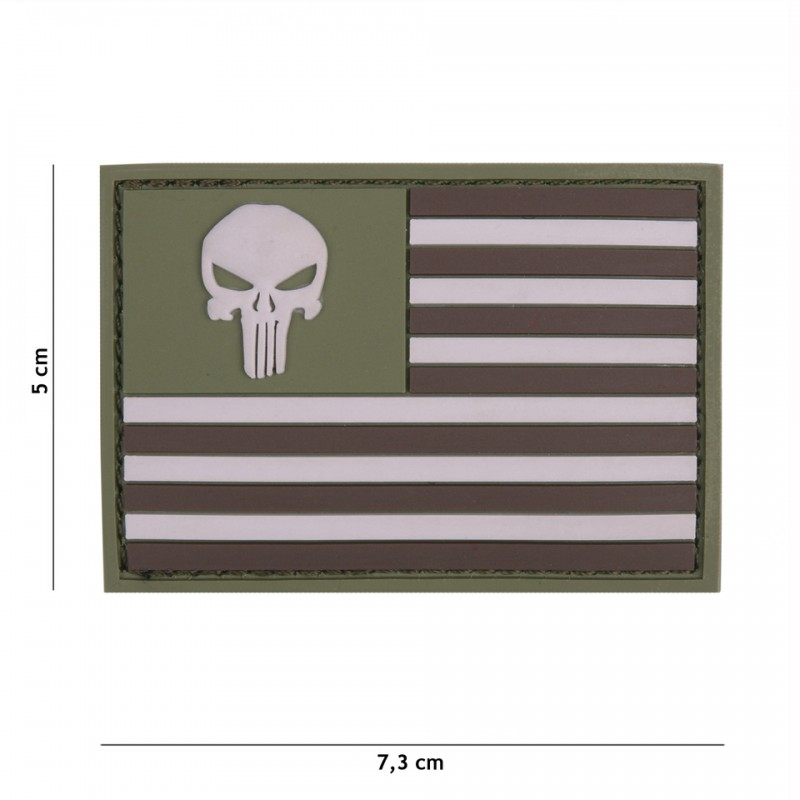 Patch 3D PVC Punisher sight USA subdued