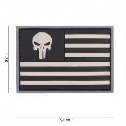 Patch 3D PVC Punisher sight USA grey