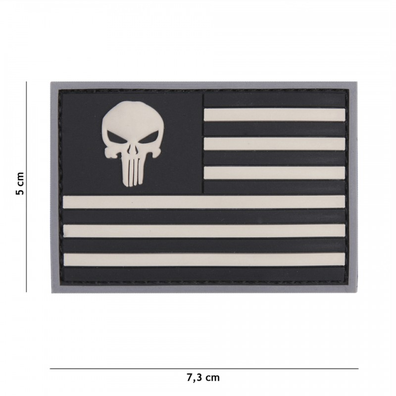Patch 3D PVC Punisher sight USA grey