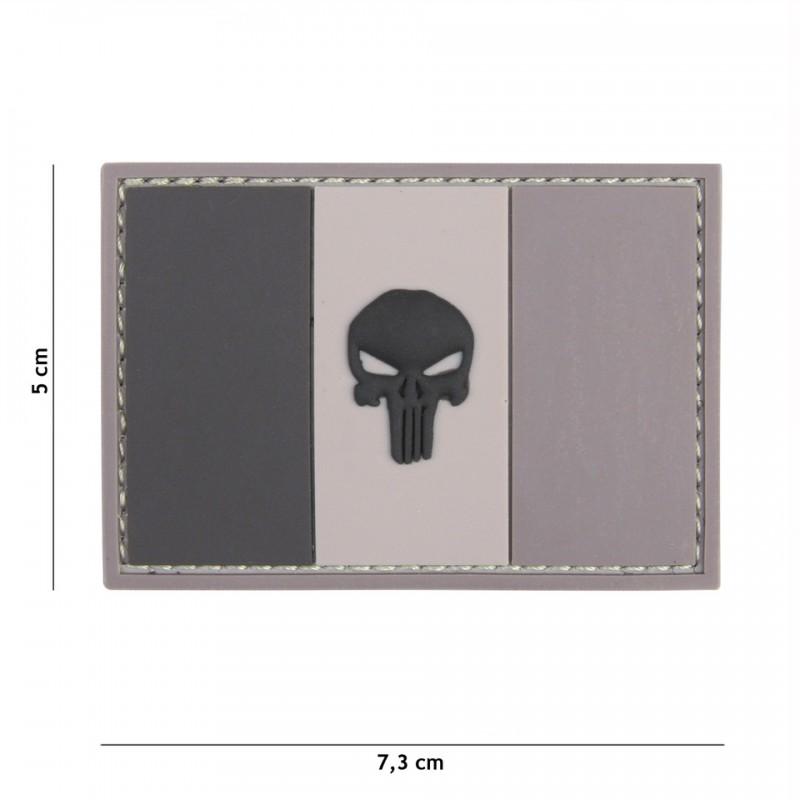 Patch 3D PVC Punisher sight France grey