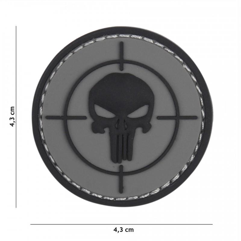Patch 3D PVC Punisher sight grey
