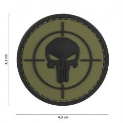 Patch 3D PVC Punisher sight green