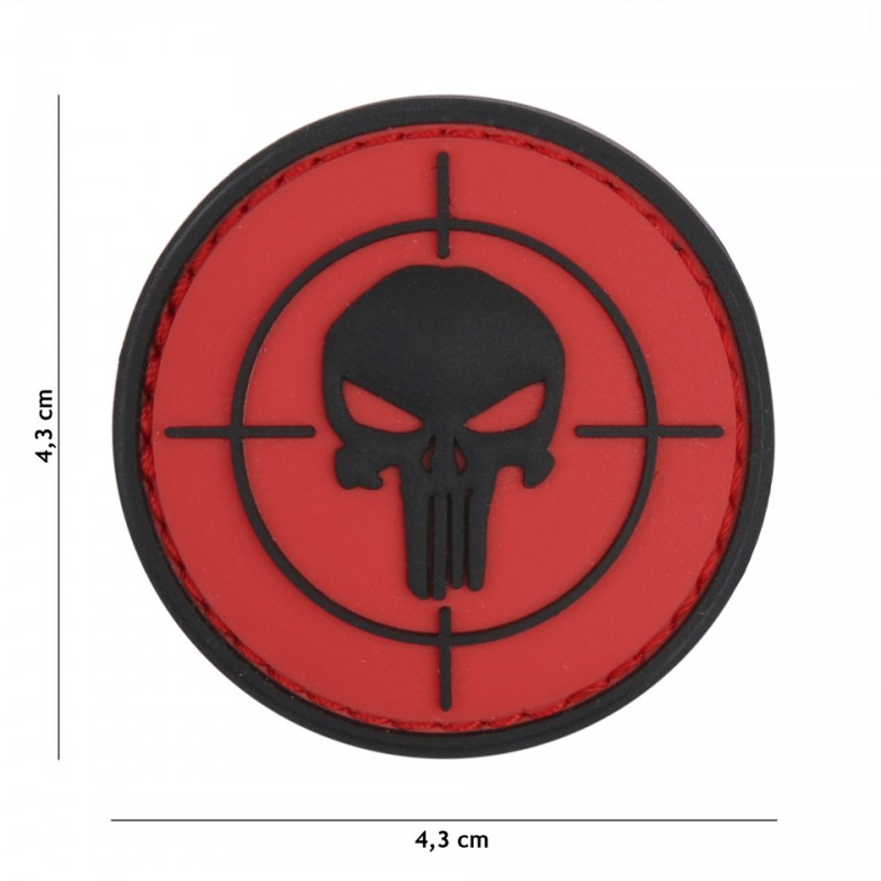 Patch 3D PVC Punisher sight red