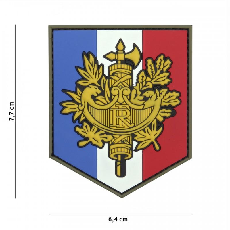 Patch 3D PVC French shield