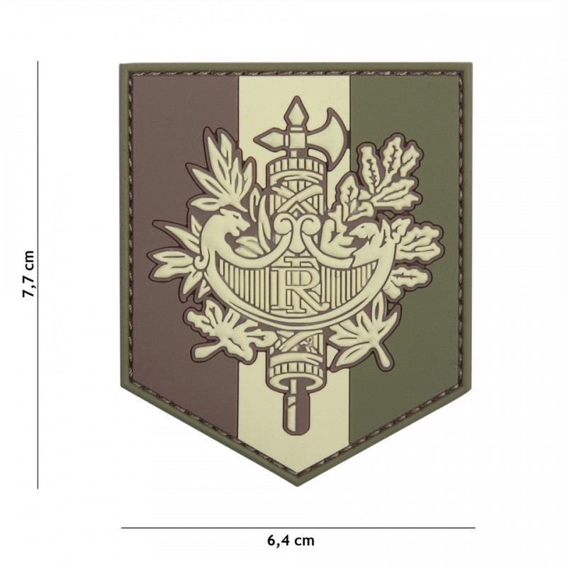 Patch 3D PVC French shield woodland