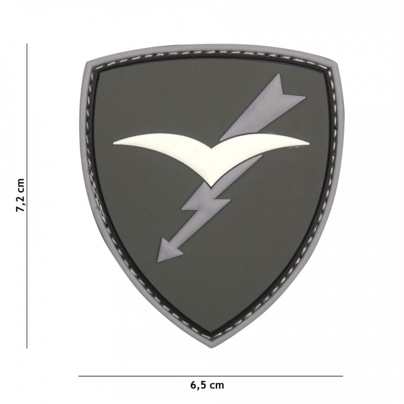 Patch 3D PVC Paratroop grey