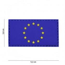 Patch 3D PVC EU blue