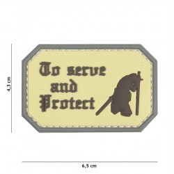 Patch 3D PVC To serve and Protect coyote