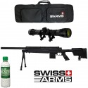 Pack Fusil Sniper SAS 06 Noir Swiss Arms avec bipied