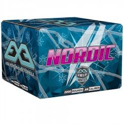 Carton 2000 billes paintball E.X.E Nordic Hiver